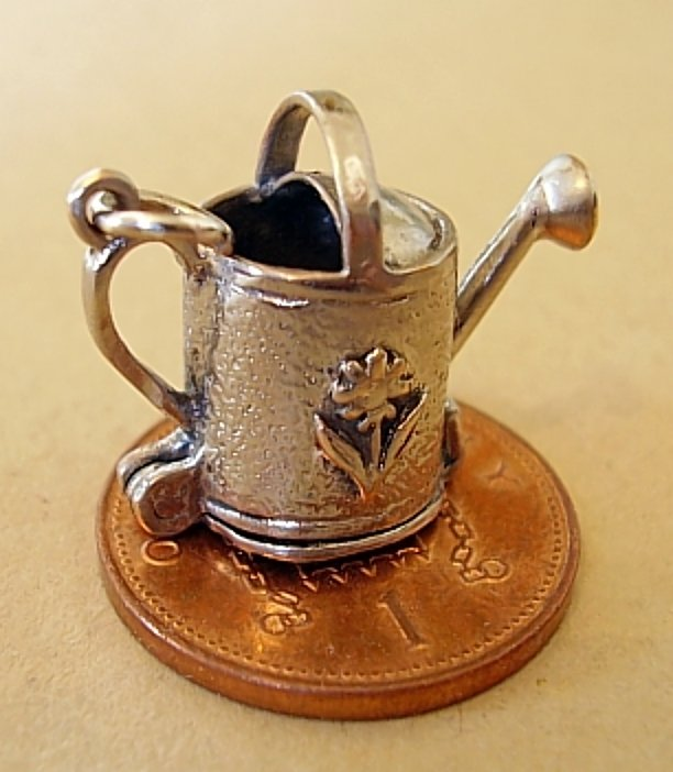 Watering Can Sterling Silver Charm