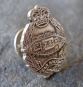 Royal Tank Regiment Sterling Silver Tie Pin Lapel Badge