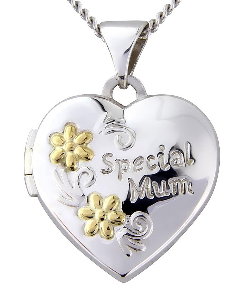 Sterling Silver Special Mum Heart Locket