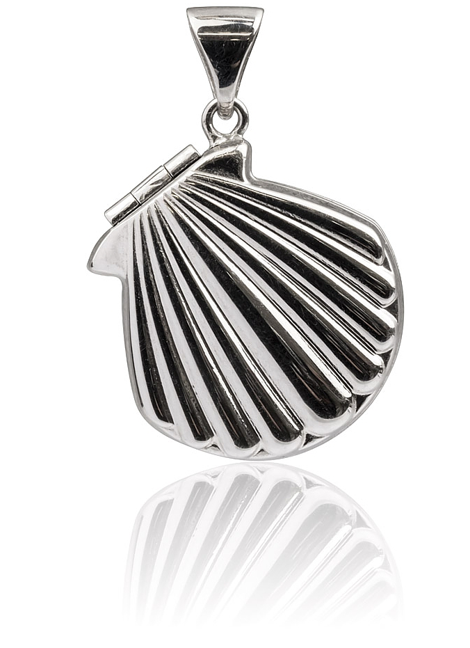 Sterling Silver & 9ct Gold Shell Locket