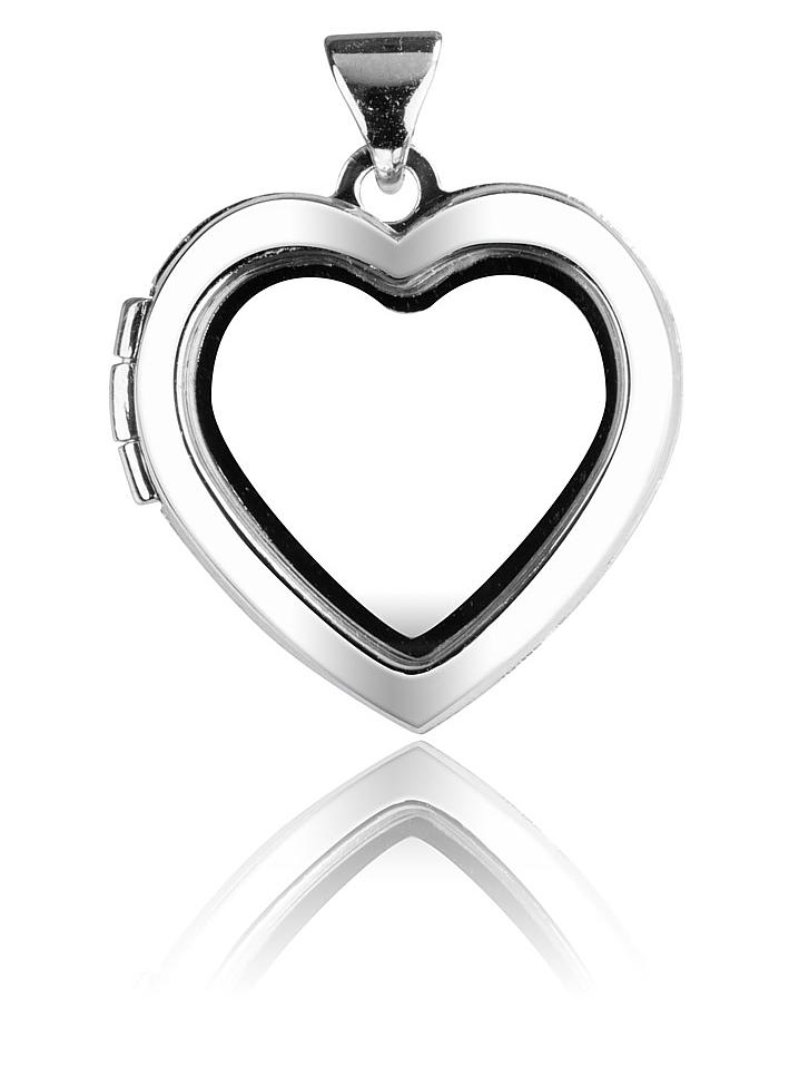 Sterling Silver Window Memory Heart Locket