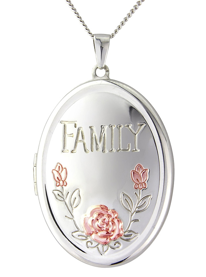 Sterling Silver Family Oval Locket