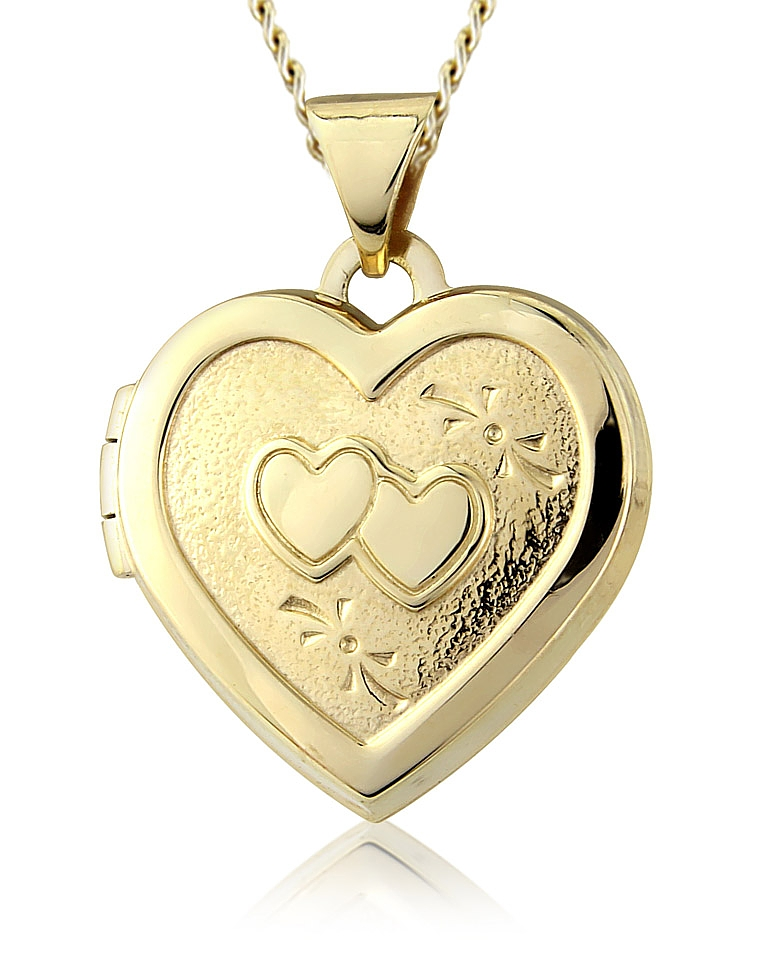9ct Gold Double Heart Locket