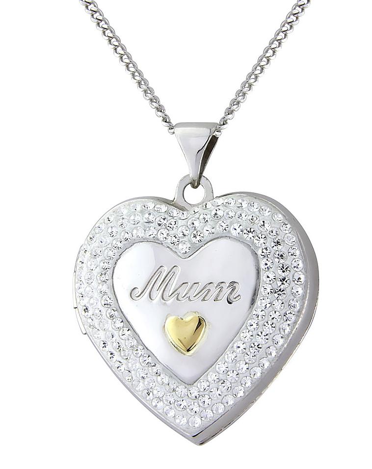 Sterling Silver Mum Heart Locket
