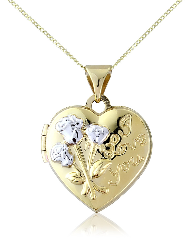 9ct Gold I Love You Heart Locket