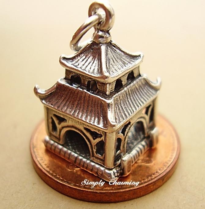 Silver Pagoda Charm