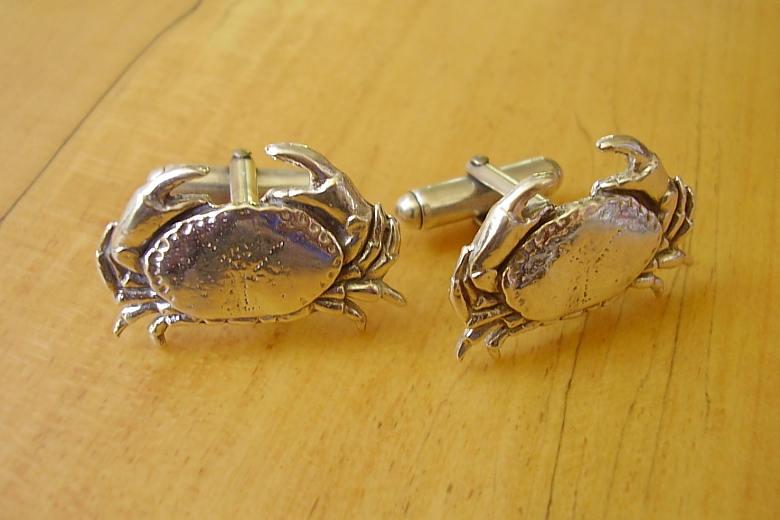 Sterling Silver Crab Cufflinks