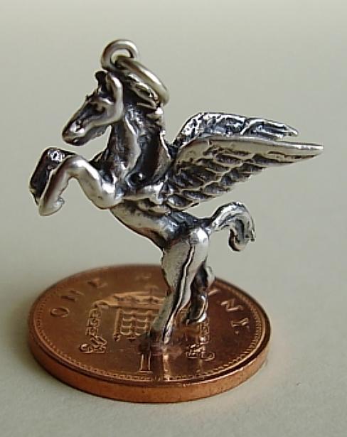 Pegasus Sterling Silver Charm