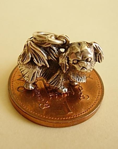 Pekingese Dog Sterling Silver Charm