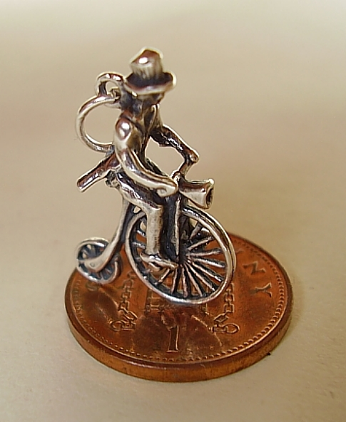 Penny Farthing Bicycle Sterling Silver Charm