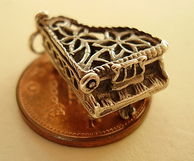 Piano Sterling Silver Charm
