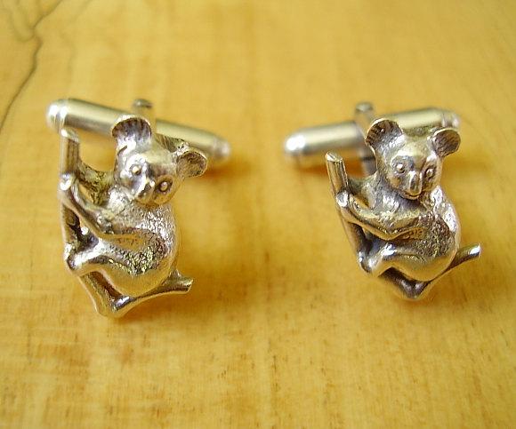 Koala Bear Sterling Silver Cufflinks