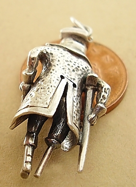 Pirate Sterling Silver Charm