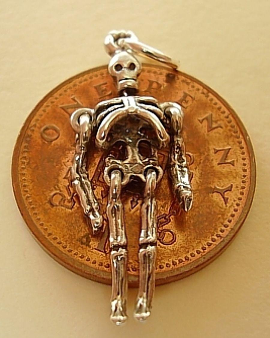 Skeleton Sterling Silver Charm