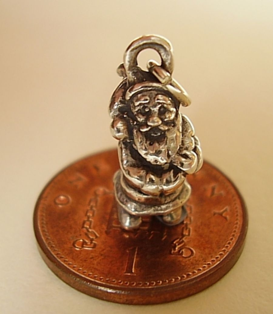 Sterling Silver Father Christmas Charm