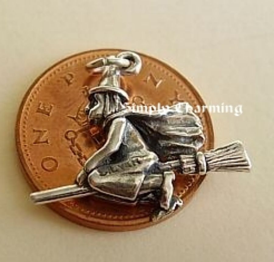 Sterling Silver Witch Charm
