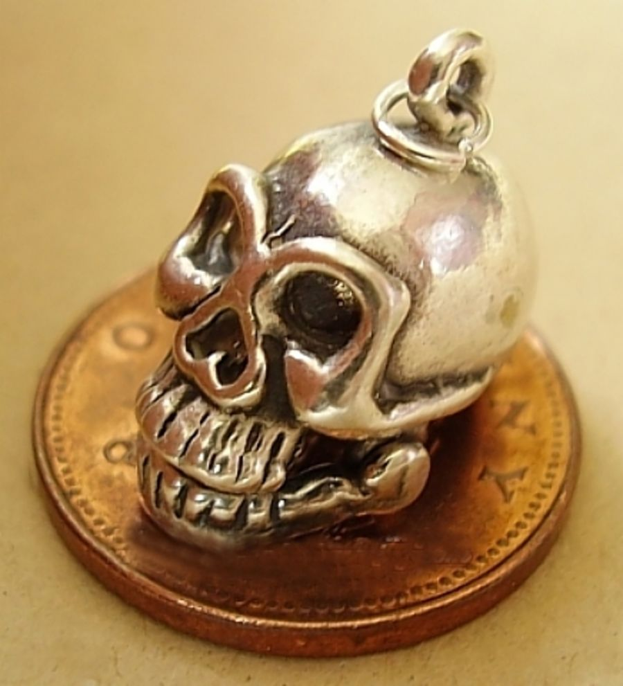 Sterling Silver Skull Charm