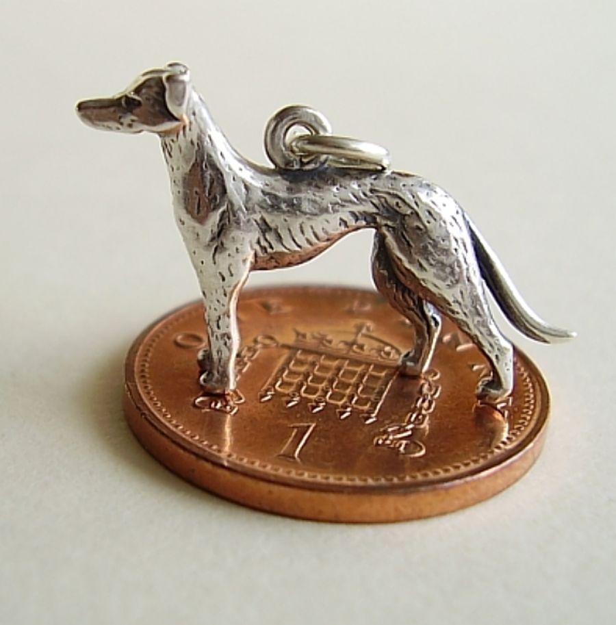 Sterling Silver Greyhound Charm