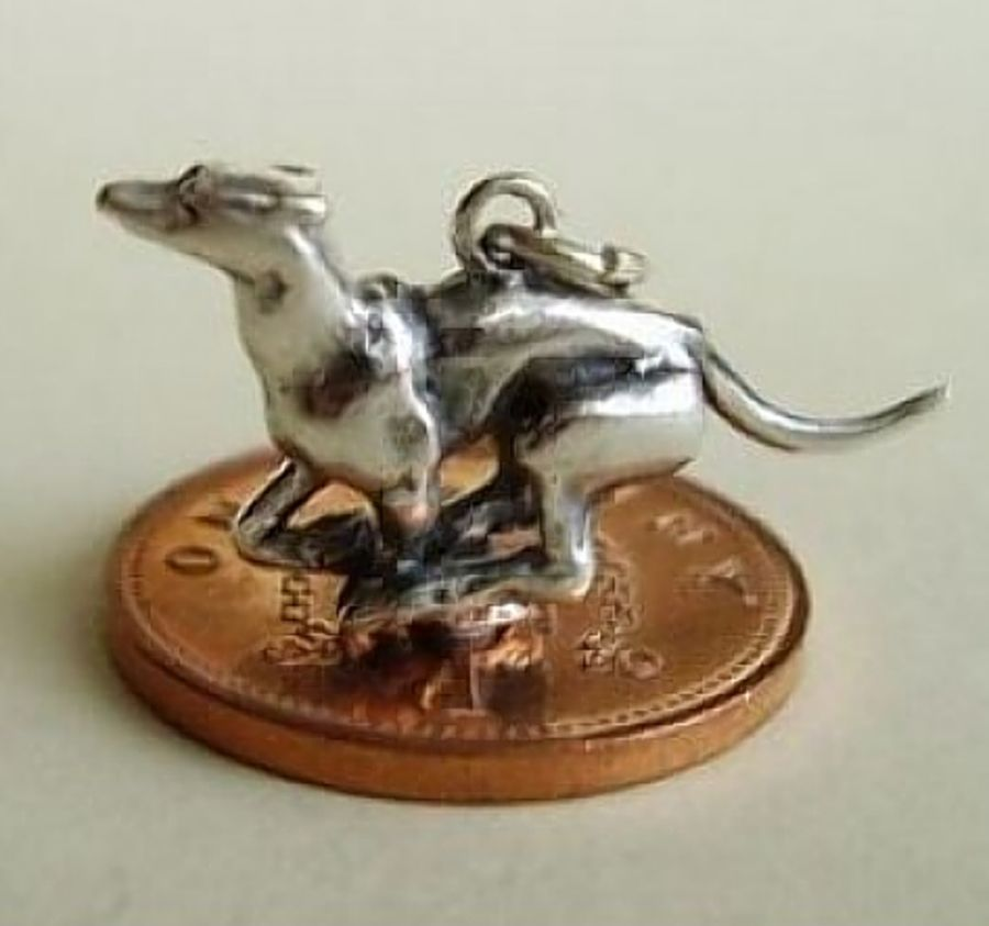 Sterling Silver Racing Greyhound Charm