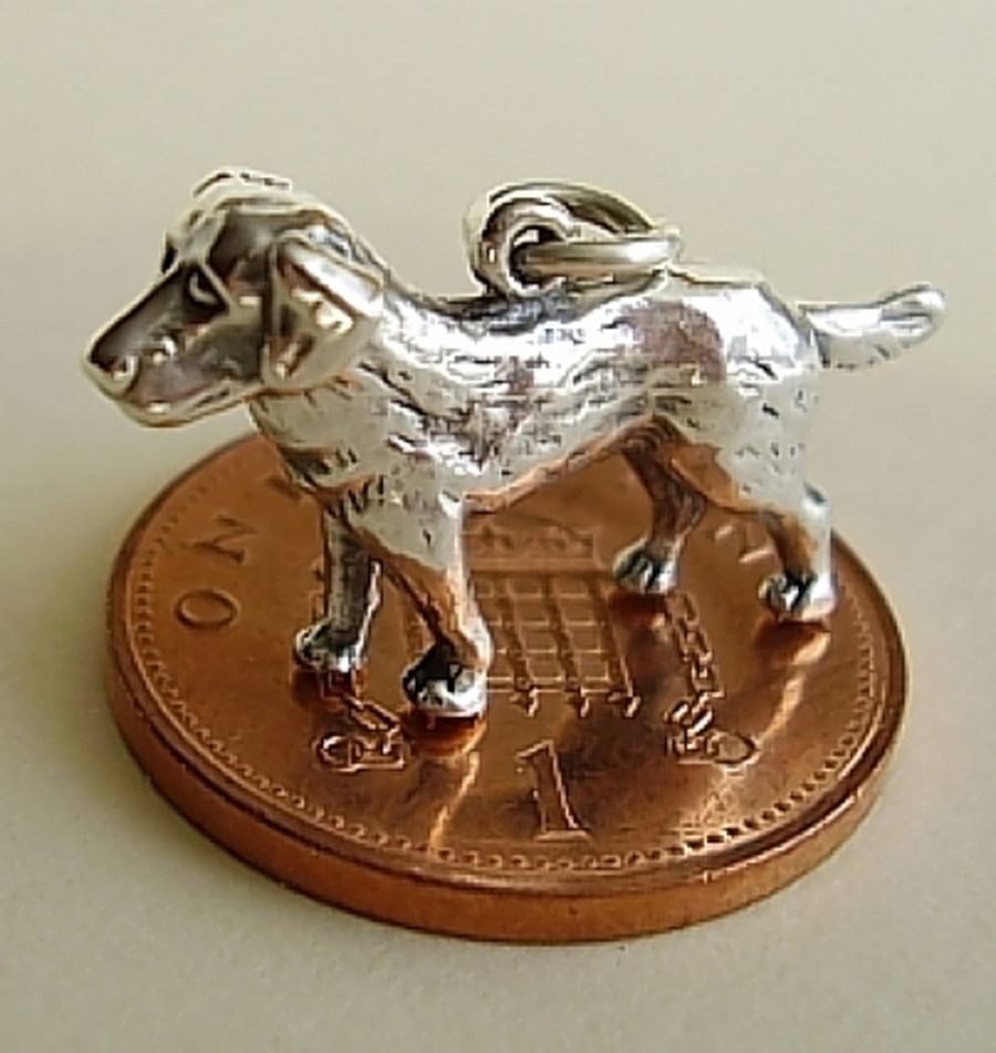 Sterling Silver Labrador Charm