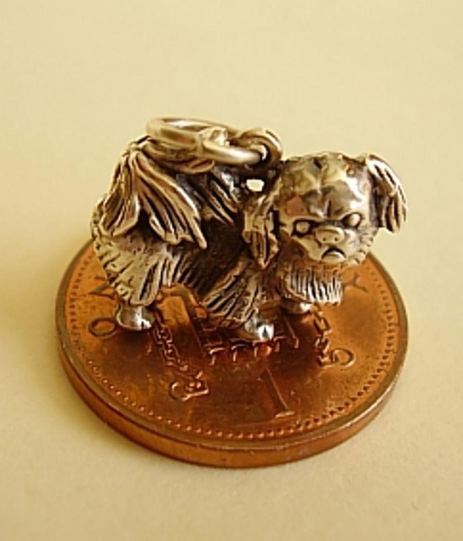 Sterling Silver Pekingese Charm