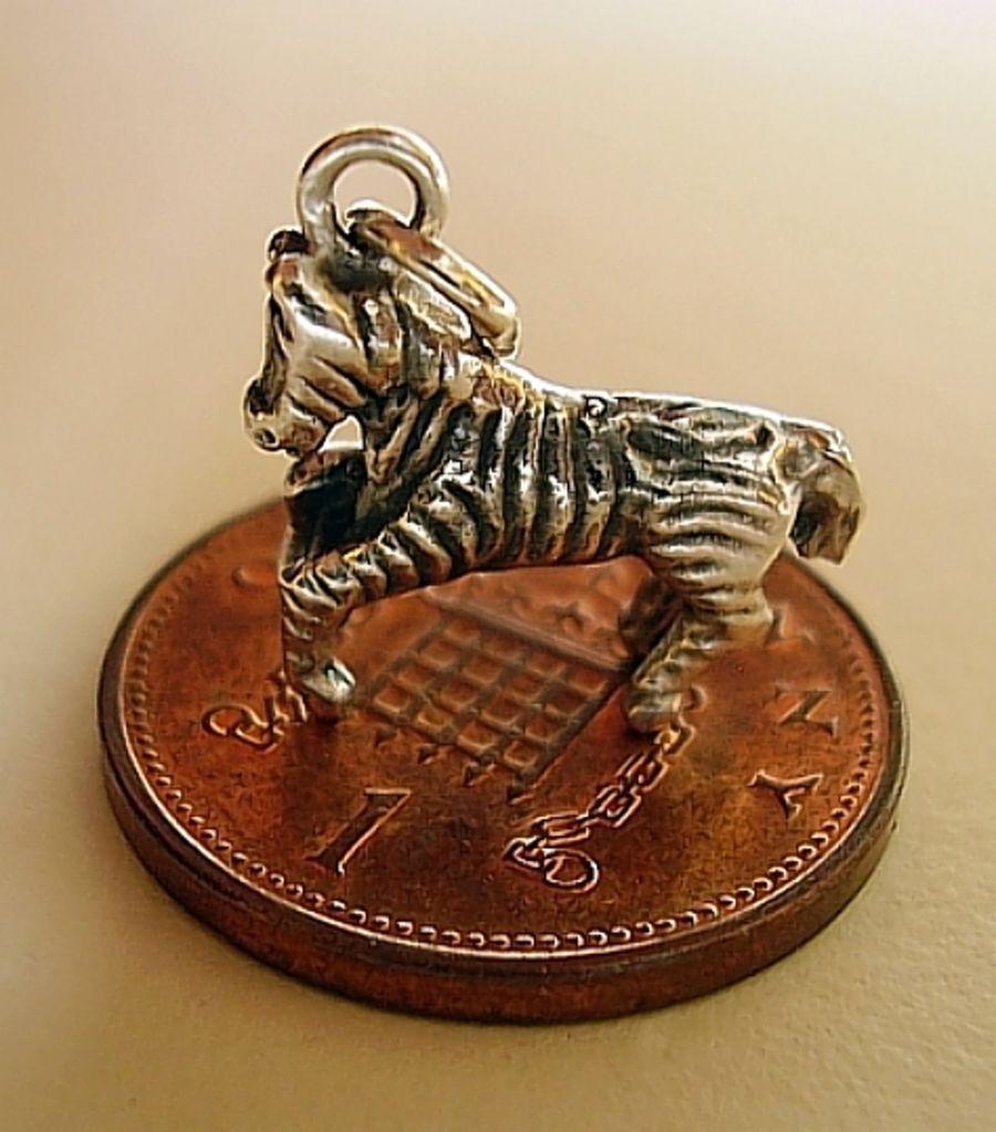 Sterling Silver Zebra Charm