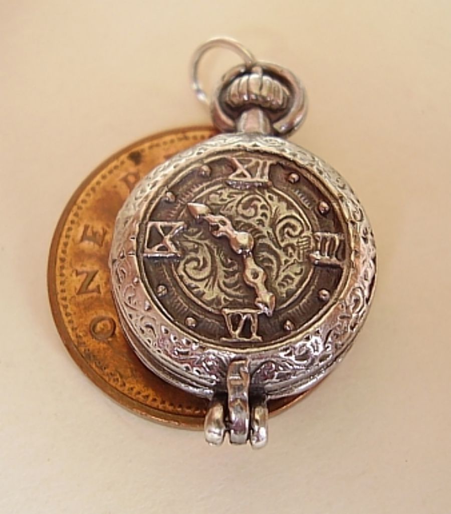 Sterling Silver Pocket Watch Charm