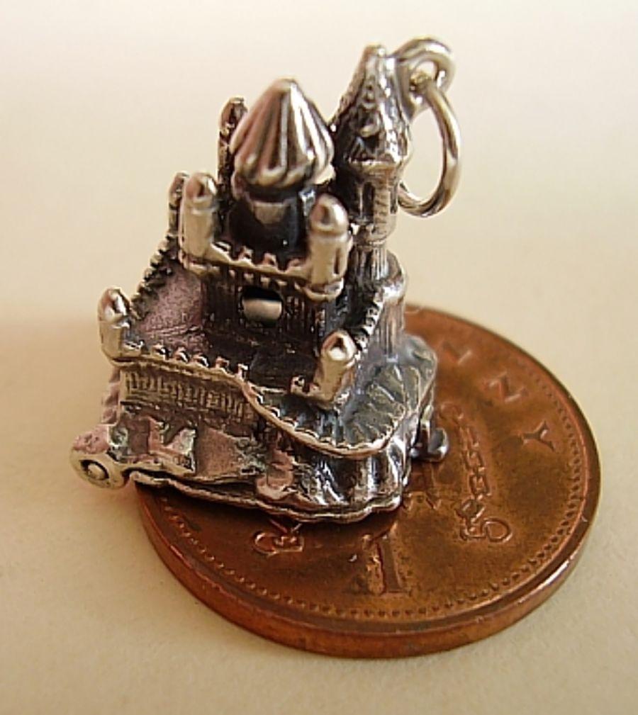Sterling Silver Sleeping Beauty Castle Charm