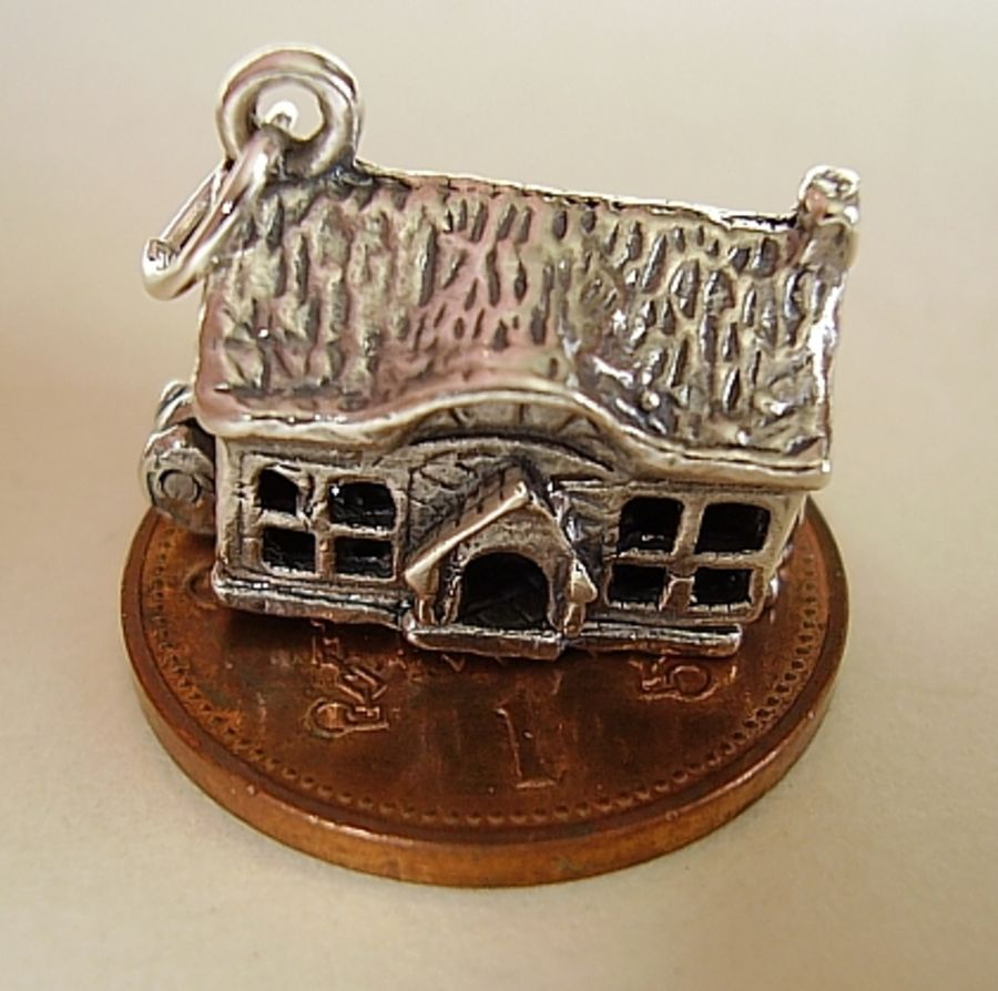 Sterling Silver Country House Charm