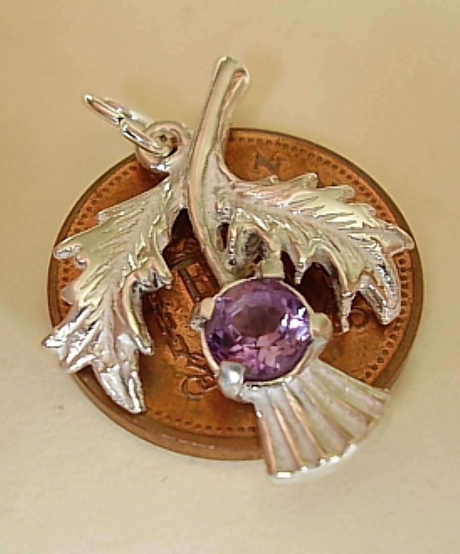 Sterling Silver Thistle Charm