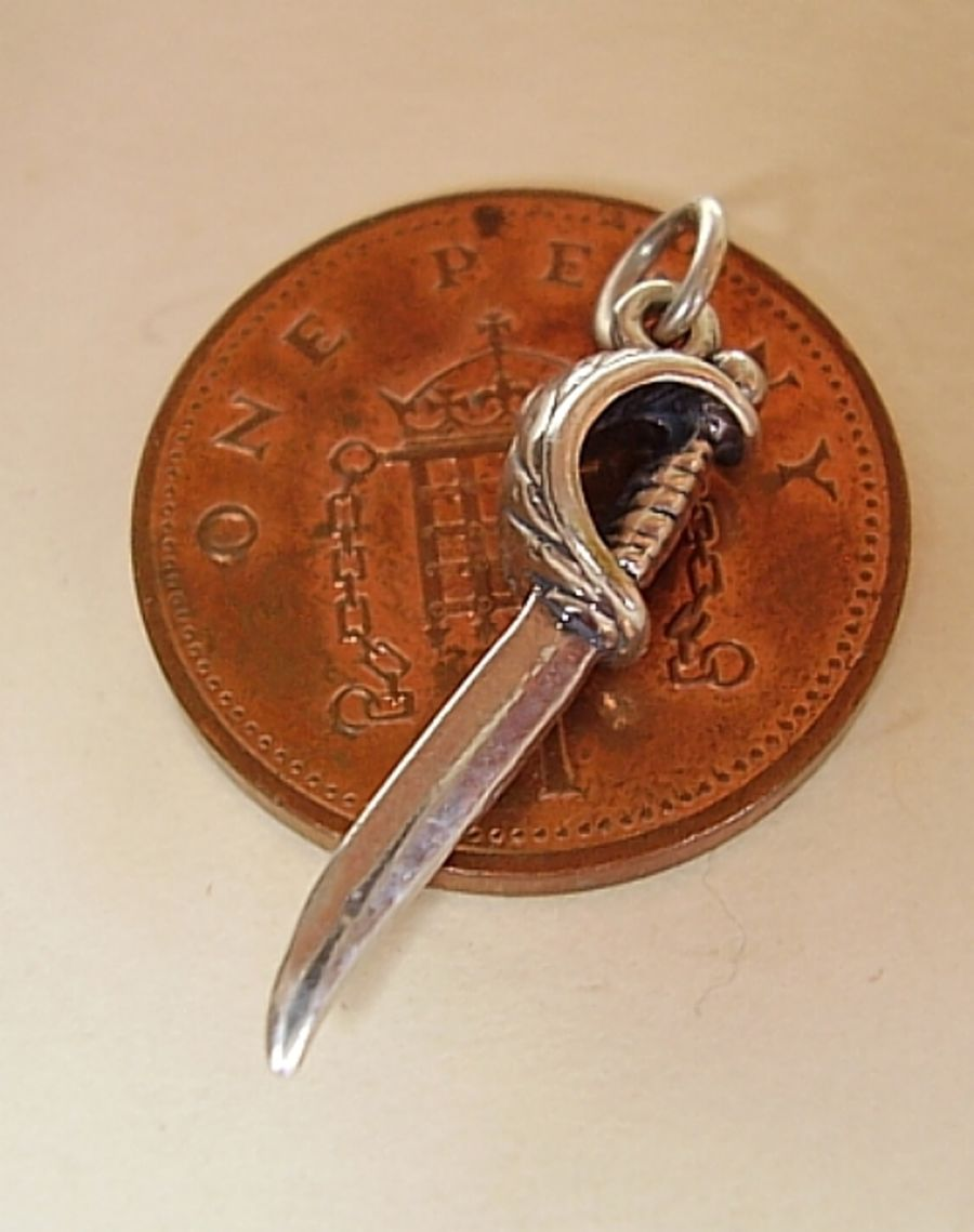 Sterling Silver Claymore Sword Charm