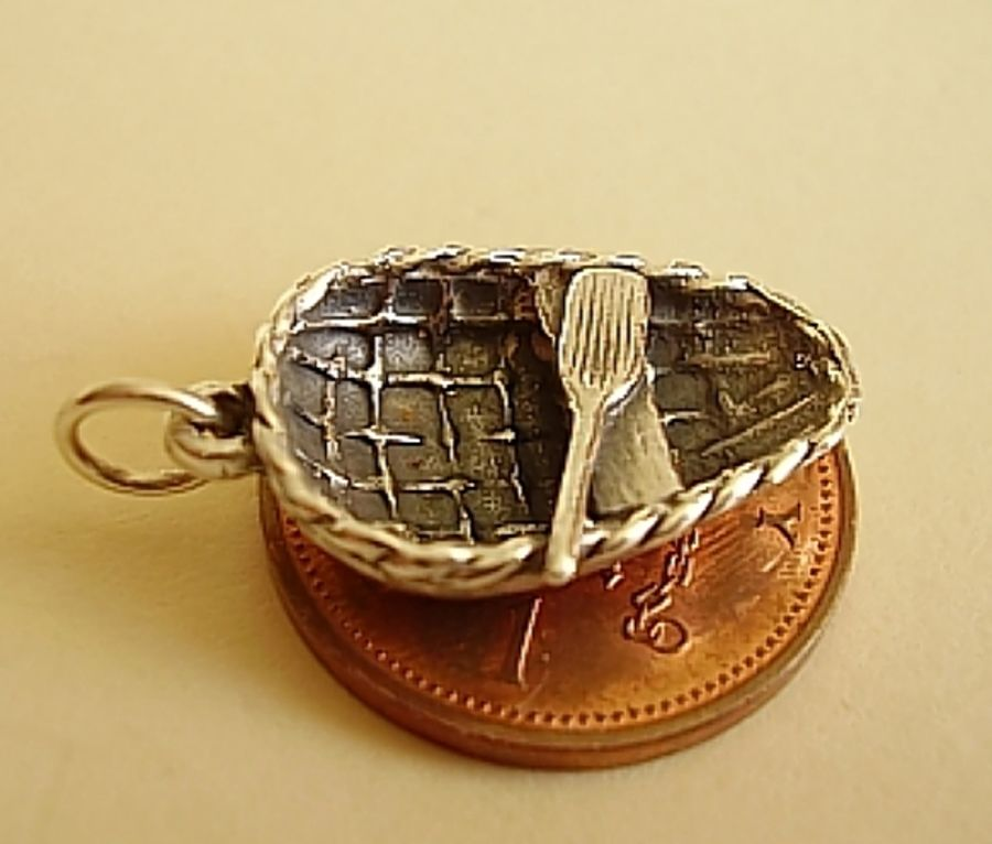 Sterling Silver Coracle Charm