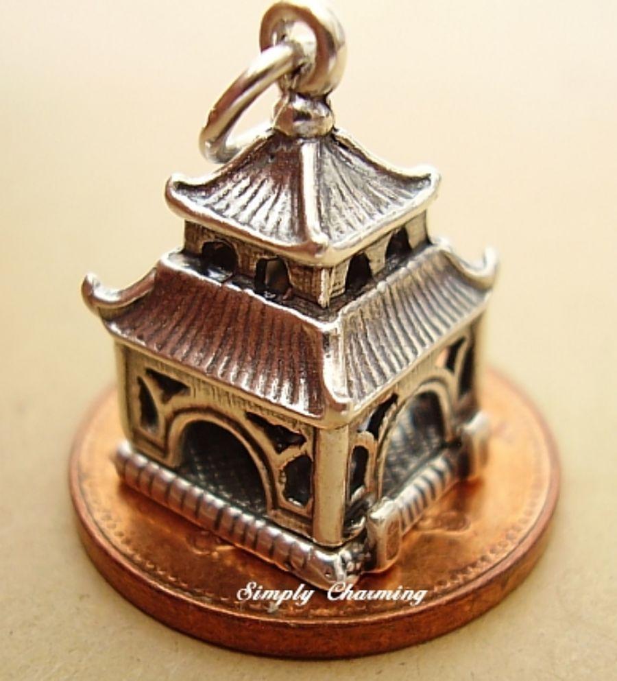 Sterling Silver Pagoda Charm