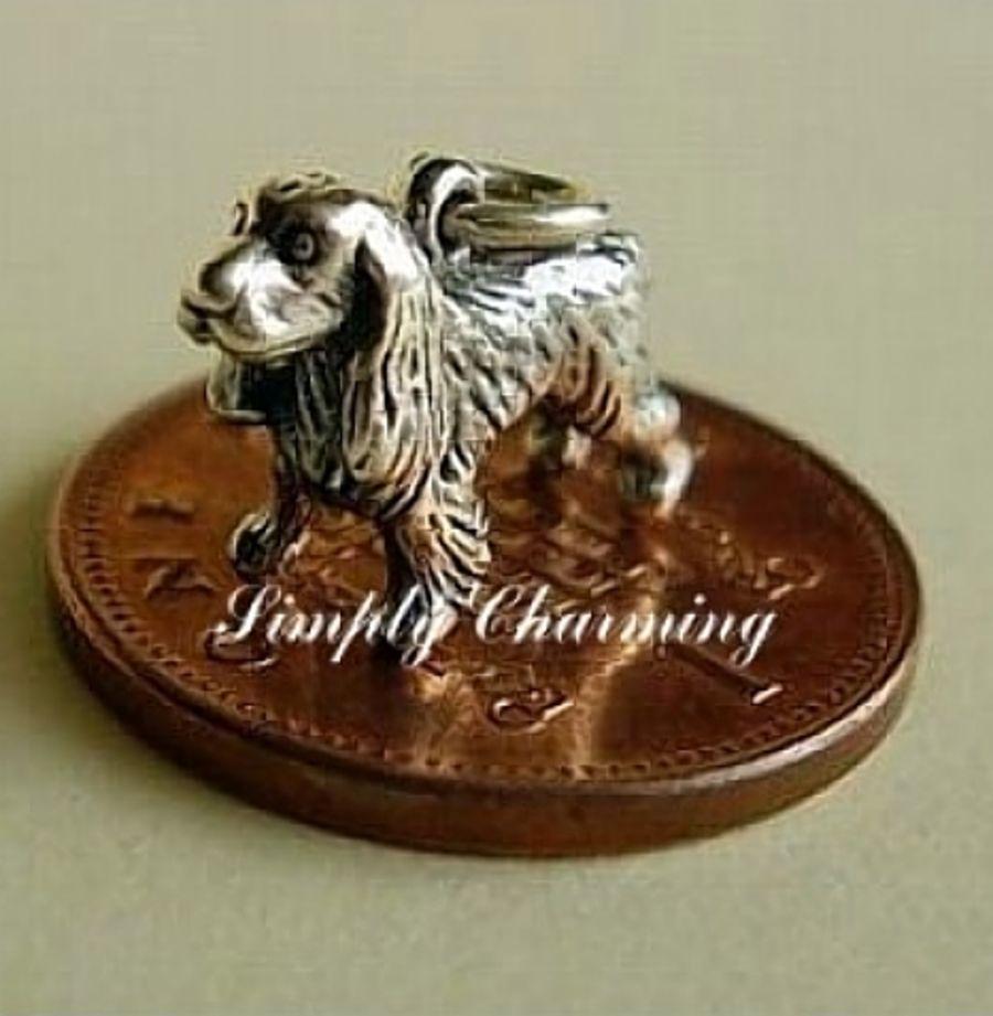 Sterling Silver Spaniel Charm