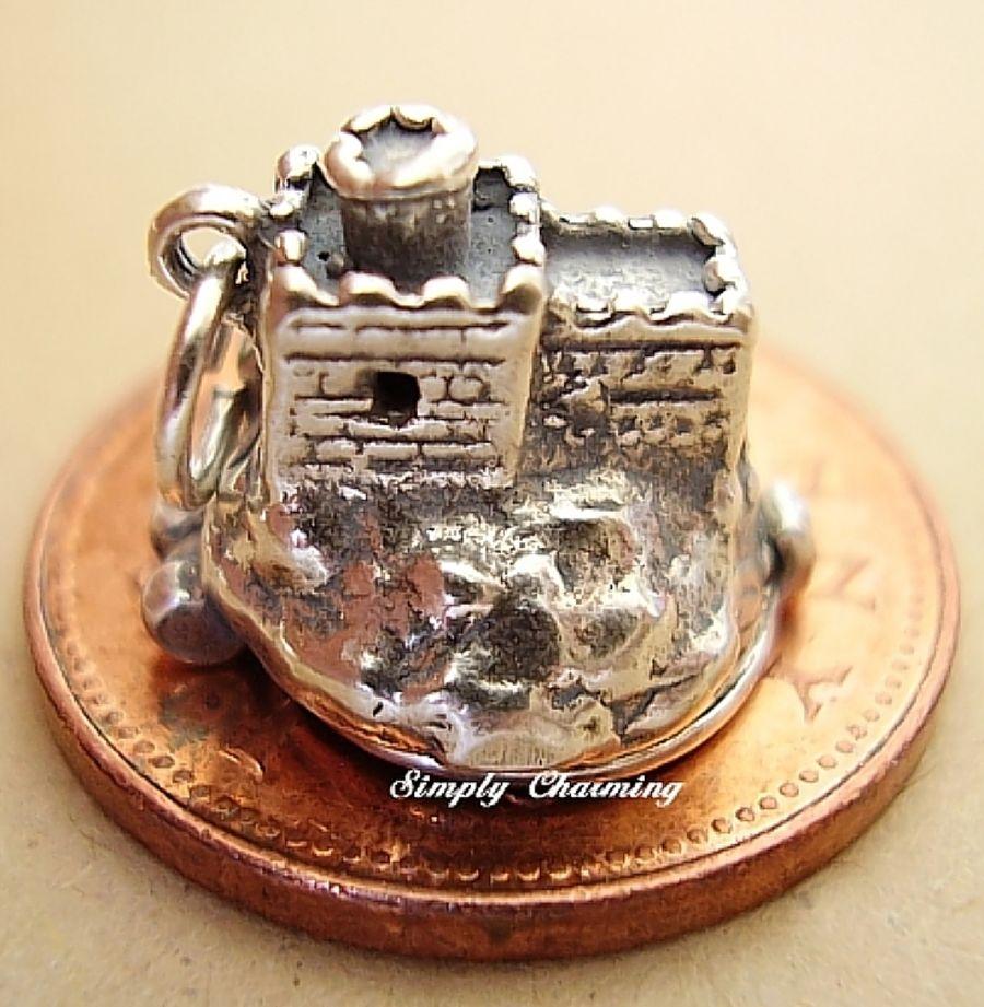 Sterling Silver Cinderella Castle Charm