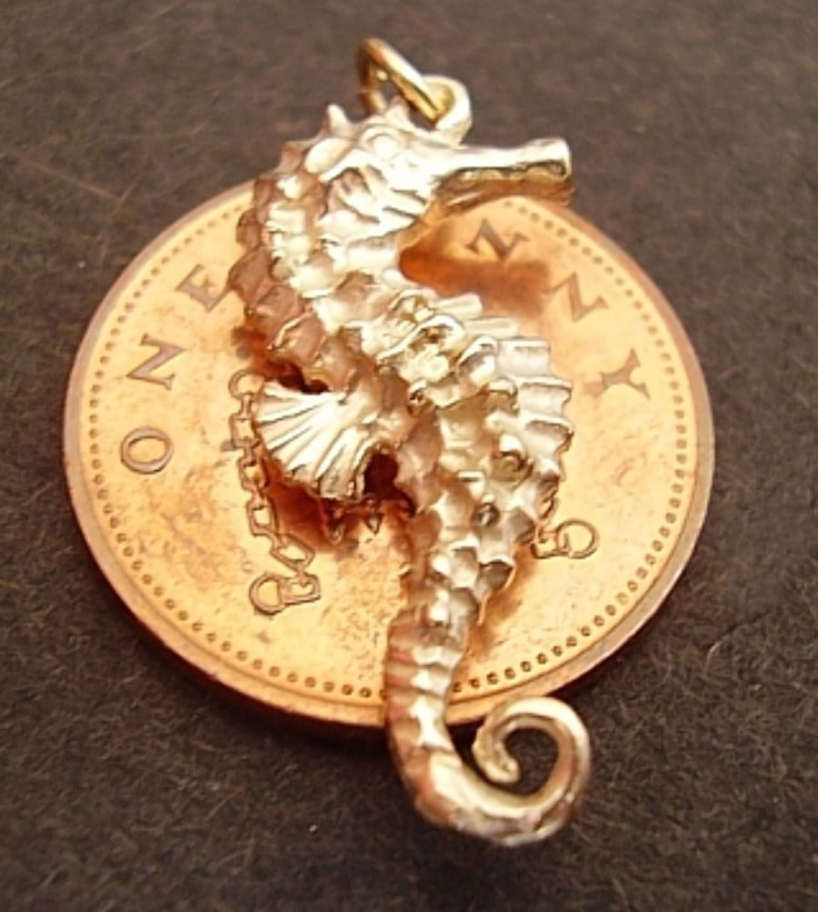 Seahorse 9ct Yellow Gold Charm