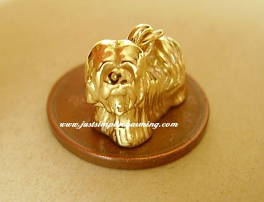 Lhasa Apso 9ct Gold Charm