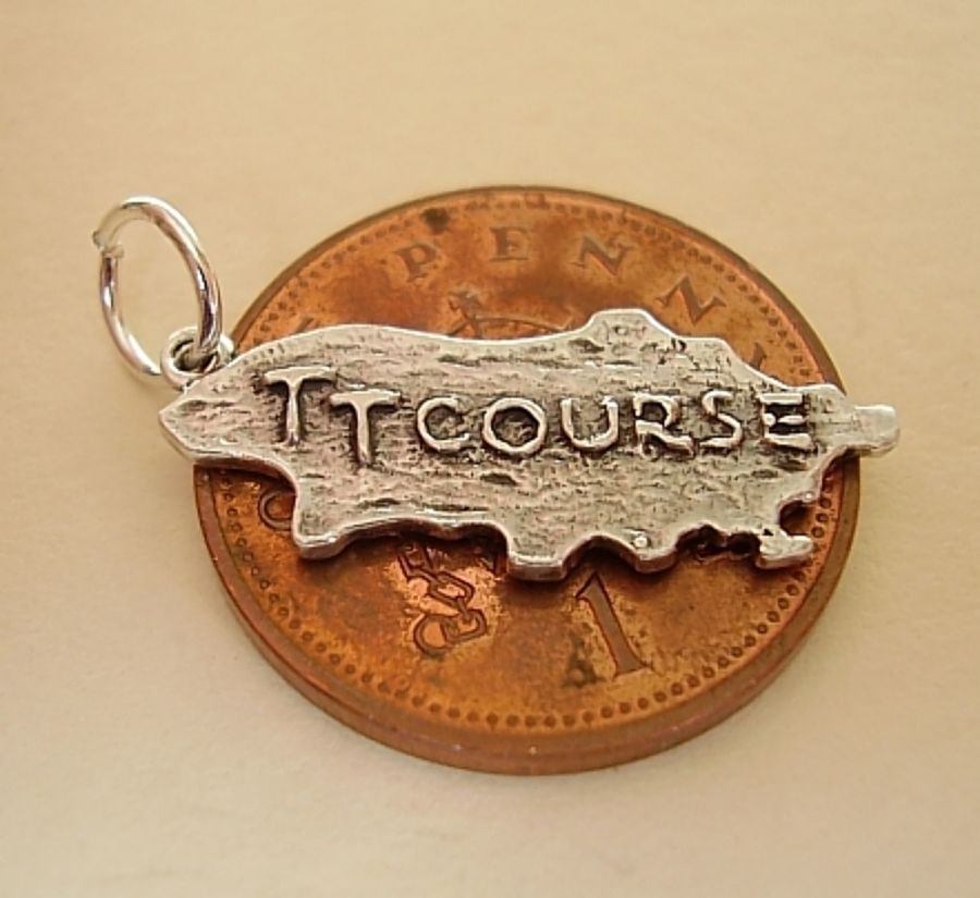 TT Course Sterling Silver Charm