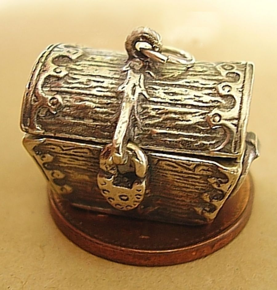 Treasure Chest Chalice Sterling Silver Charm