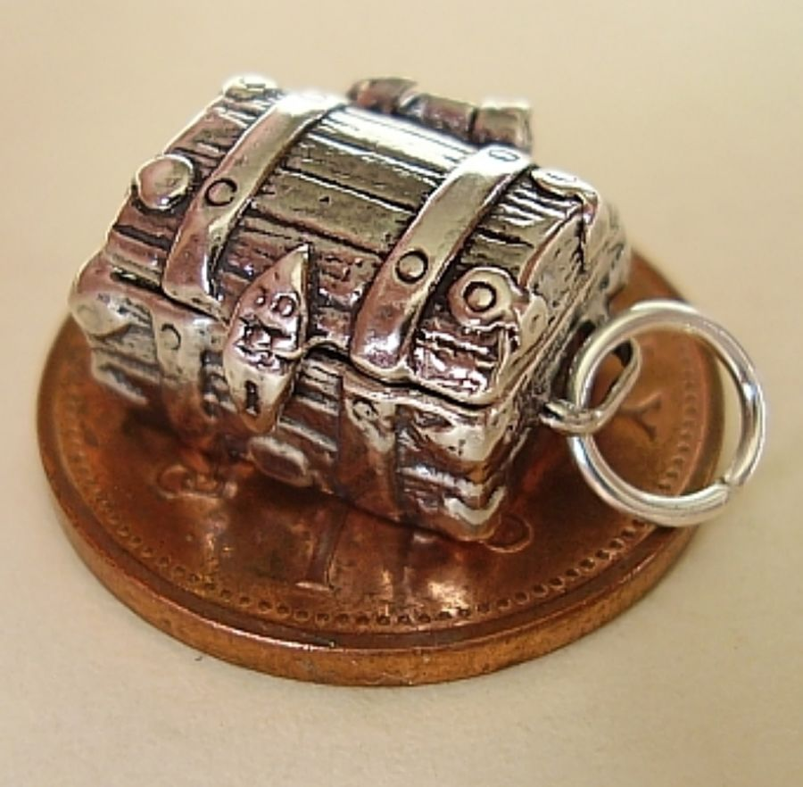 Treasure Chest Sterling Silver Charm