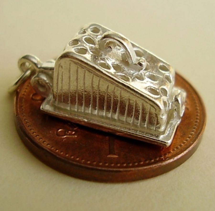 Silver Cheese Dish Charm