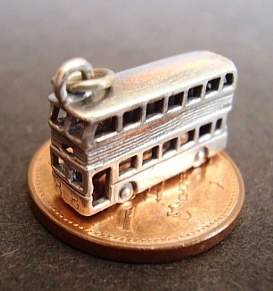 Sterling Silver Bus Charm