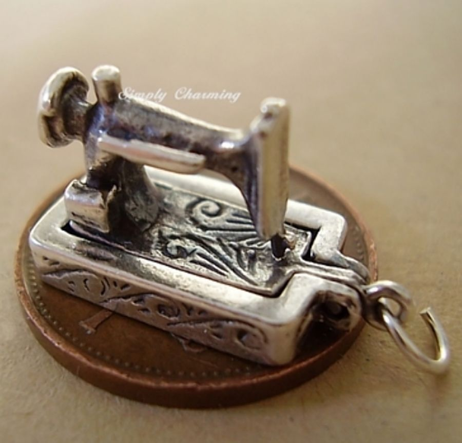 Sewing Machine Sterling Silver Charm