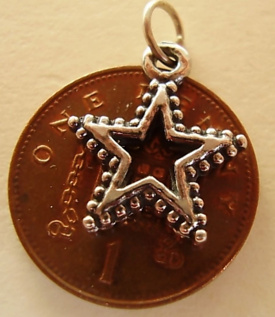 Christmas Star Sterling Silver Charm
