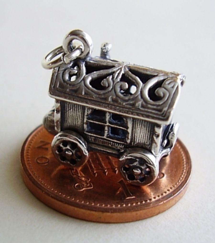 Caravan Fortune Teller Sterling Silver Charm