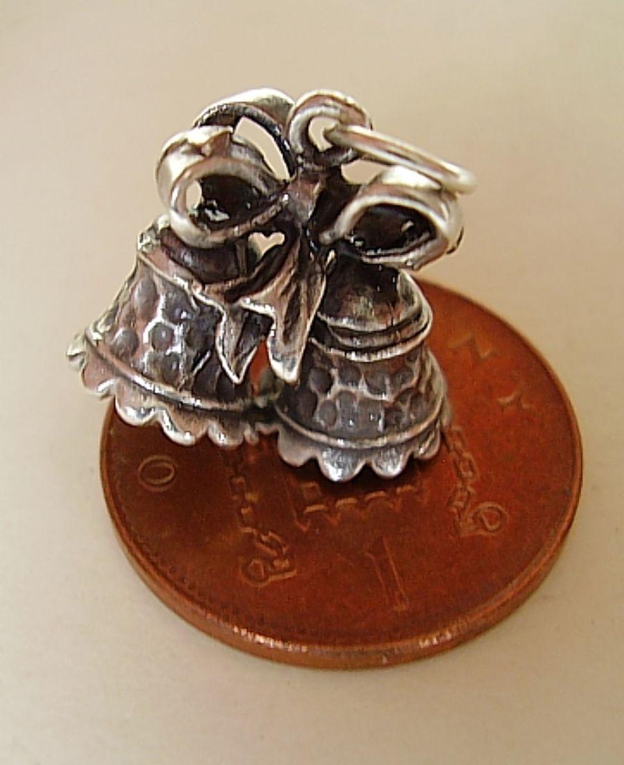 Wedding Bell Sterling Silver Charm