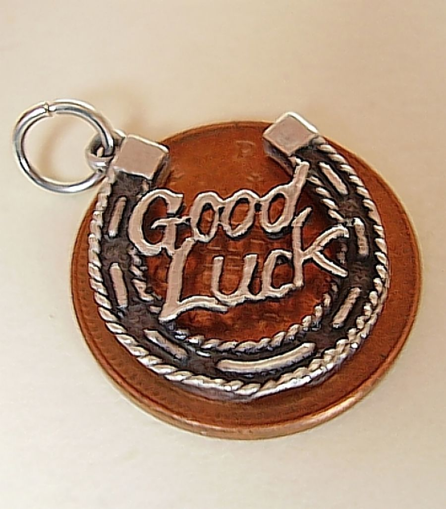 Good Luck Horseshoe Sterling Silver Charm