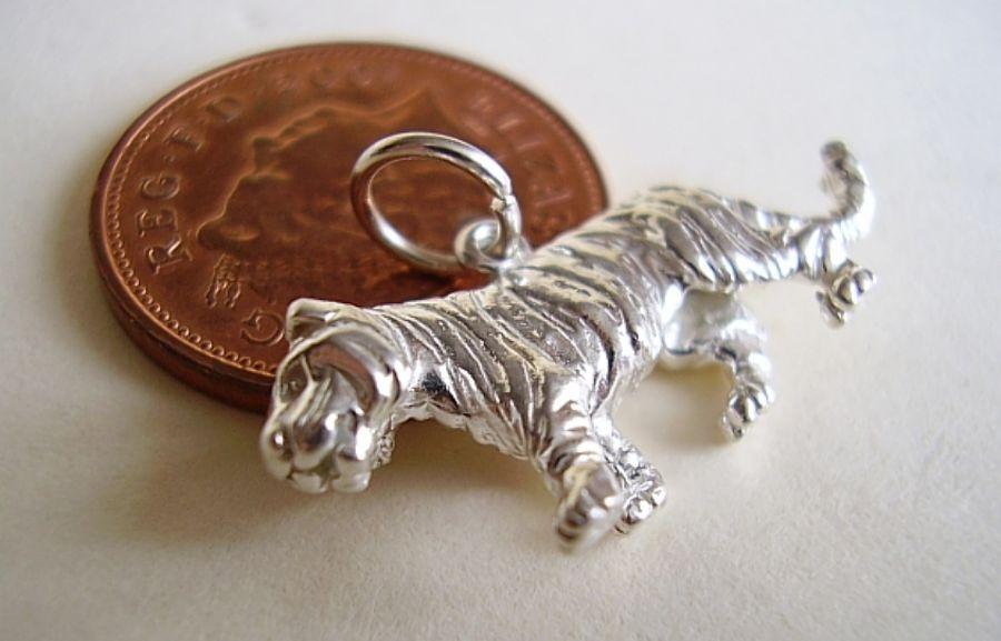 Sterling Silver Tiger Charm