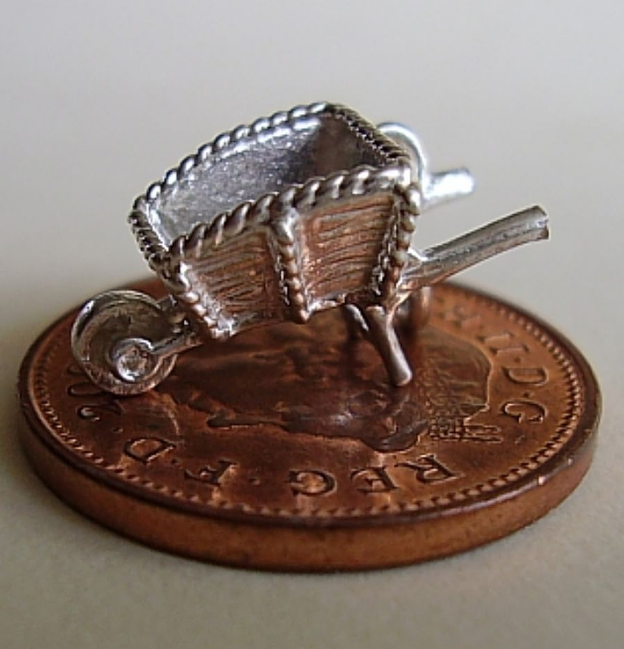 Sterling Silver Wheelbarrow Charm