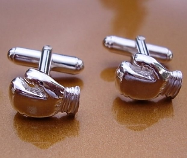 Sterling Silver Boxing Gloves Cufflinks